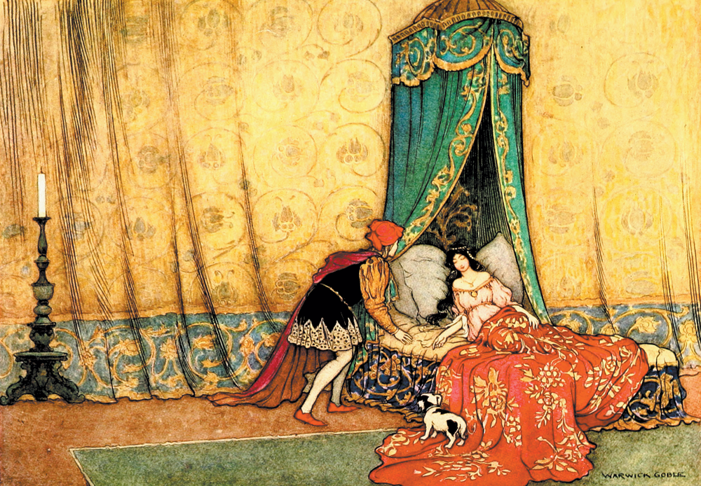 'Sleeping Beauty' The Fairy Book by Warwick Goble