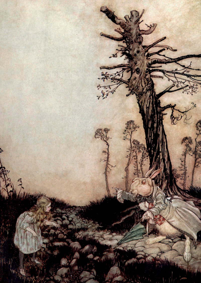 Tree, Arthur Rackham, Alice in Wonderland