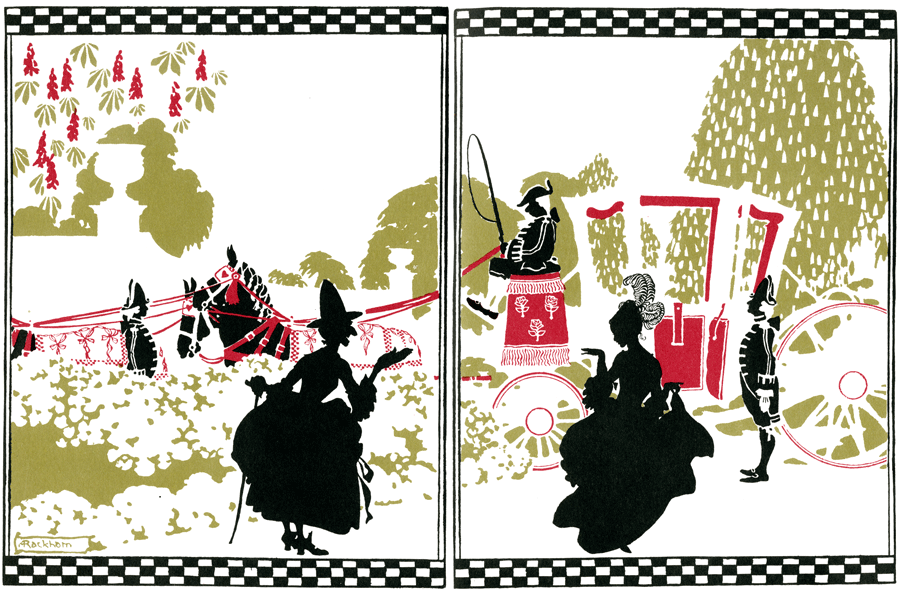 Cinderella Silhouettes by Arthur Rackham