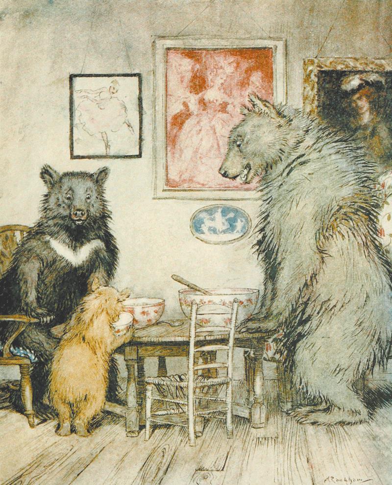 Goldilocks and the Three Bears by Arthur Rackham