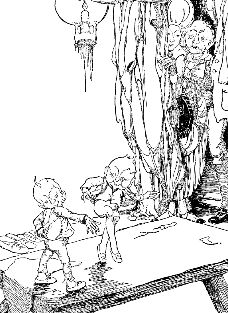 The Elves and the Shoemaker by Anne Anderson