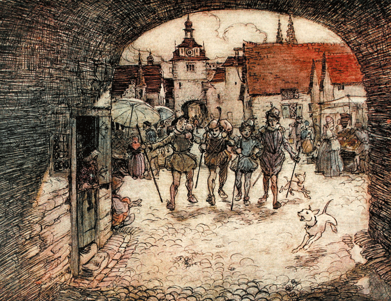 The Four Clever Brothers by Arthur Rackham