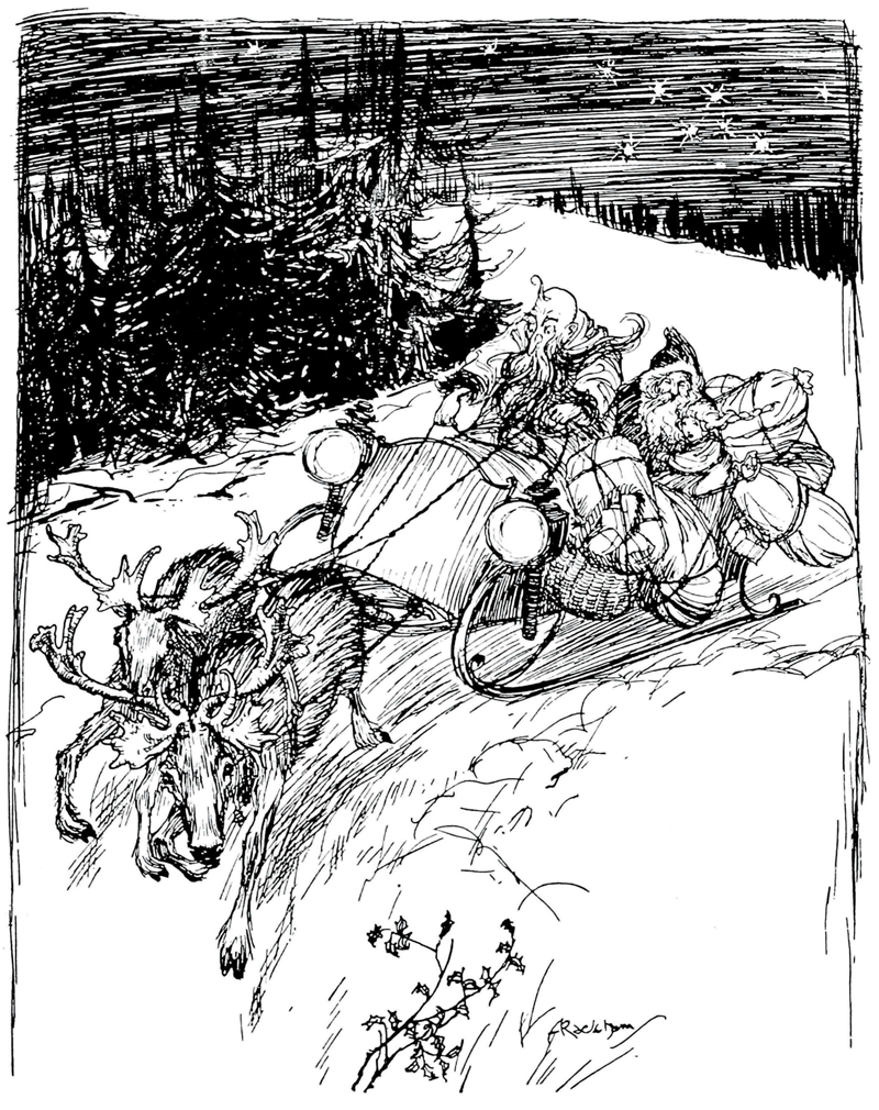 Father Christmas at Home Arthur Rackham