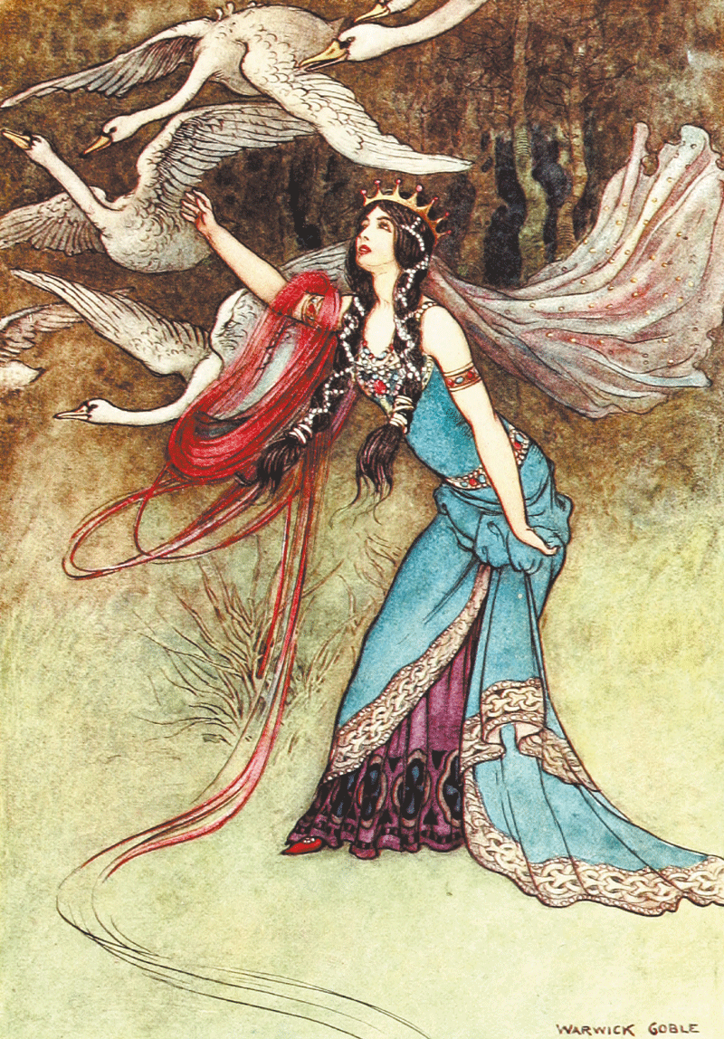 The Six Swans Warwick Goble