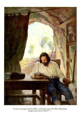 Robinson Crusoe by Daniel Defoe illustrated by N. C. Wyeth