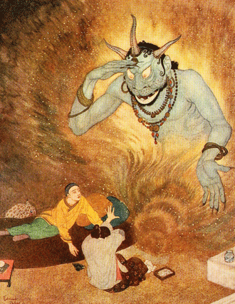 The Illustrated Aladdin and the Wonderful Lamp