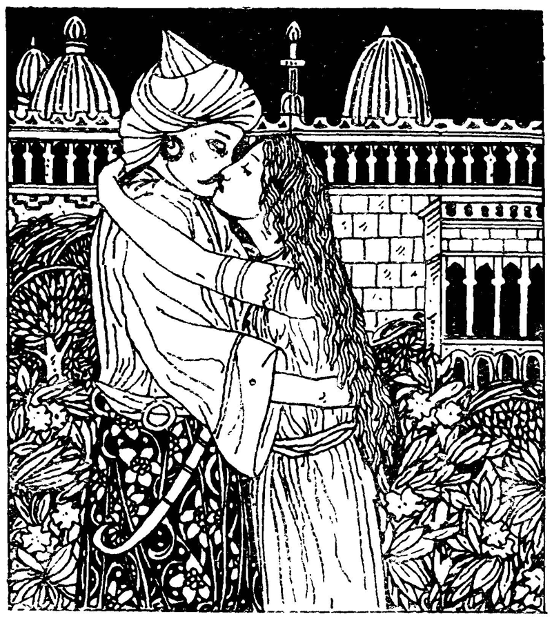 Aladdin and the Wonderful Lamp, illustrated by Sidney H. Heath.