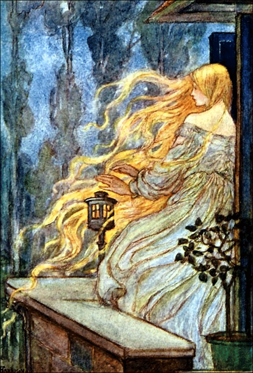 Rapunzel illustration by Emma Florence Harrison