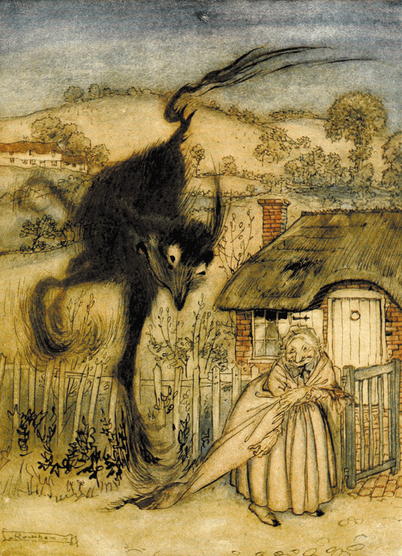 The Bogey-Beast illustration by Arthur Rackham