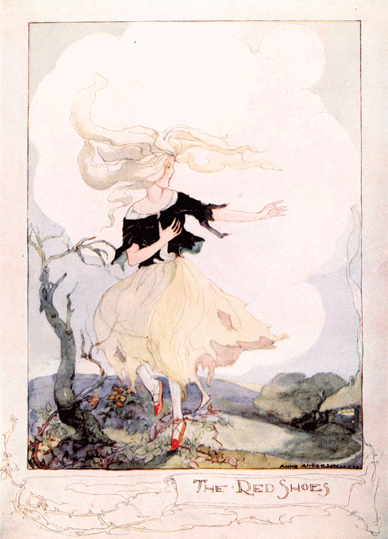 The Red Shoes illustrated by Anne Anderson