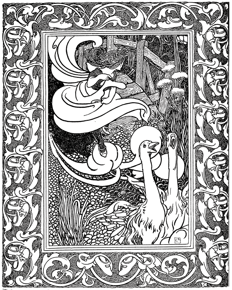 The Red Shoes illustrated by Charles Robinson