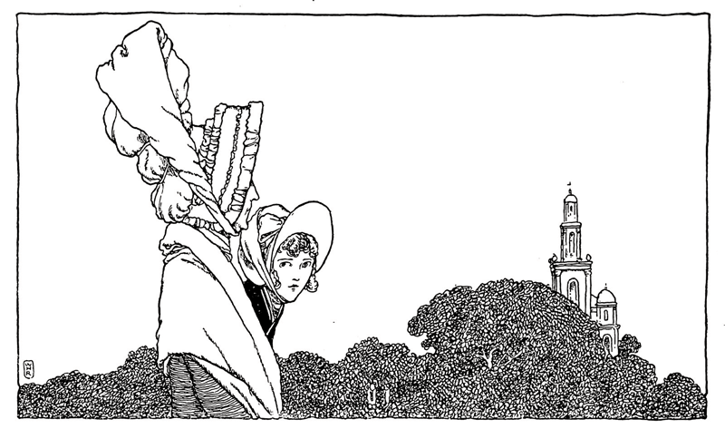 The Red Shoes illustrated by W. Heath Robinson