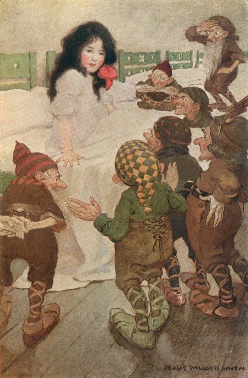 Snowdrop and The Seven Dwarves, A Child's Book of Stories - Jessie Willcox Smith