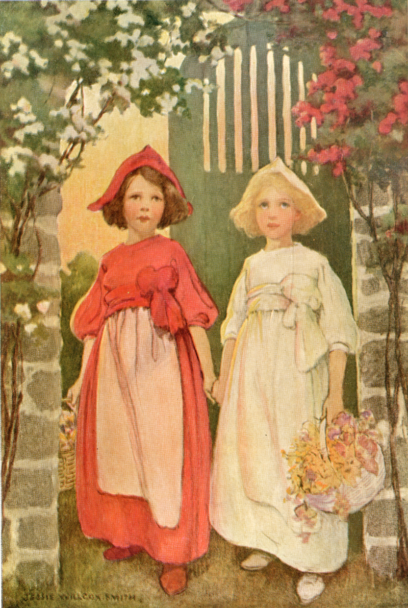 Snow-white and Rose-red, A Child's Book of Stories - Jessie Willcox Smith