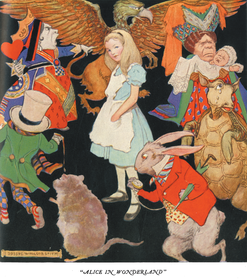 Alice in Wonderland, The Girls and Boys of Bookland - Jessie Willcox Smith