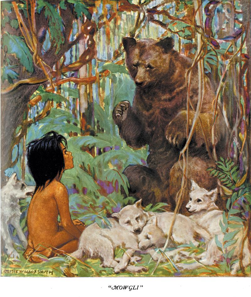 Mowgli, The Girls and Boys of Bookland - Jessie Willcox Smith
