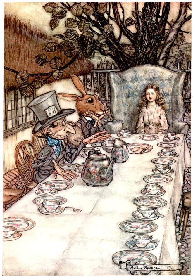 A Mad Tea Party - 10 Mad Hatters - Arthur Rackham
