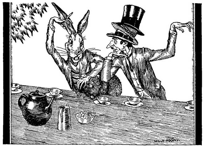 Mad Hatter with Three Hats - 10 Mad Hatters - Willy Pogany
