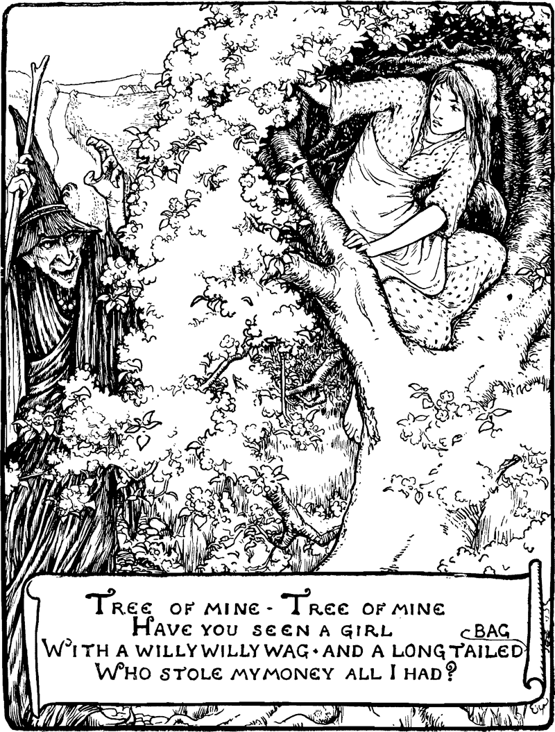 The Old Witch - An English Fairy Tale illustrated by Arthur Rackham