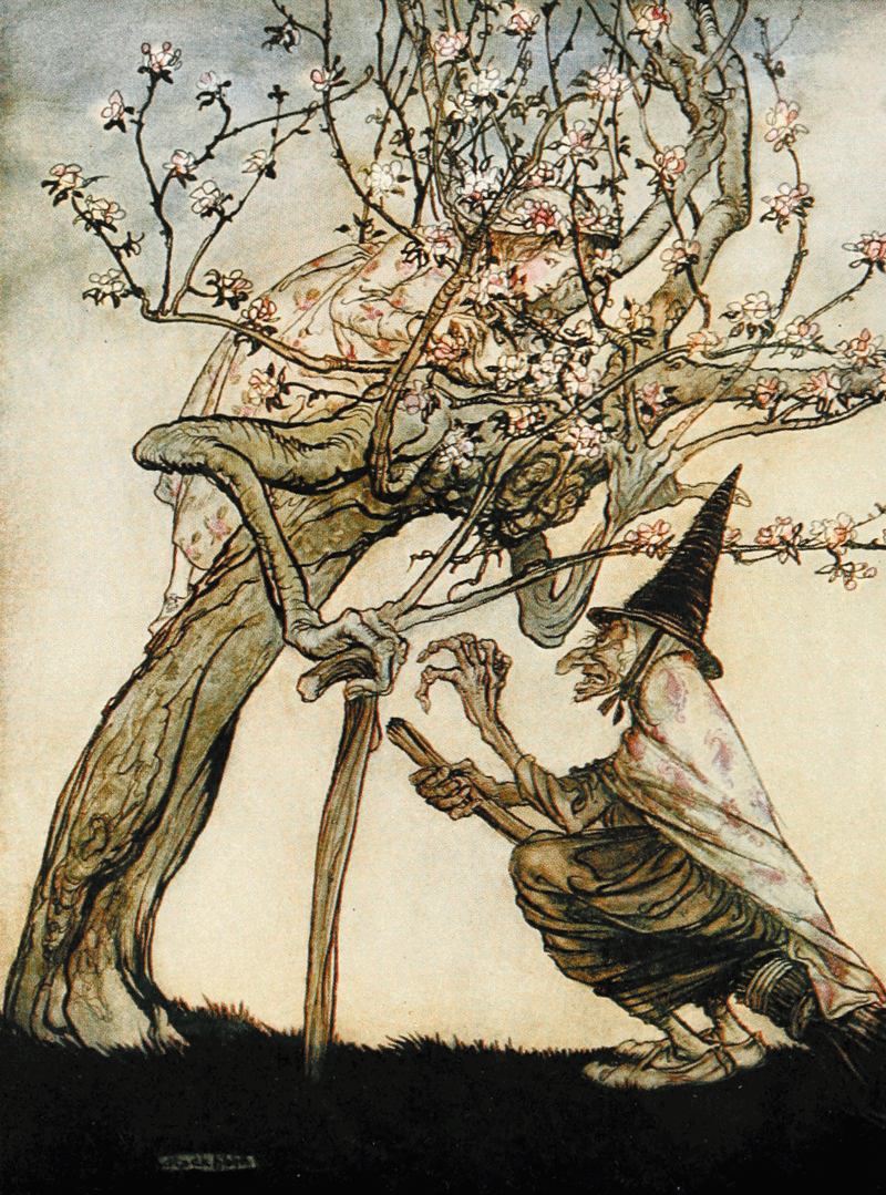 The Old Witch - An English Fairy Tale, illustrated by Arthur Rackham