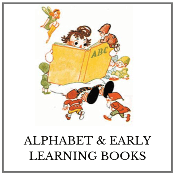 alphabet & early learning books category button
