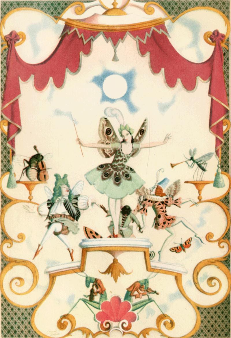 Edmund Dulac Three Illustrators Birthday - Fairy Garland