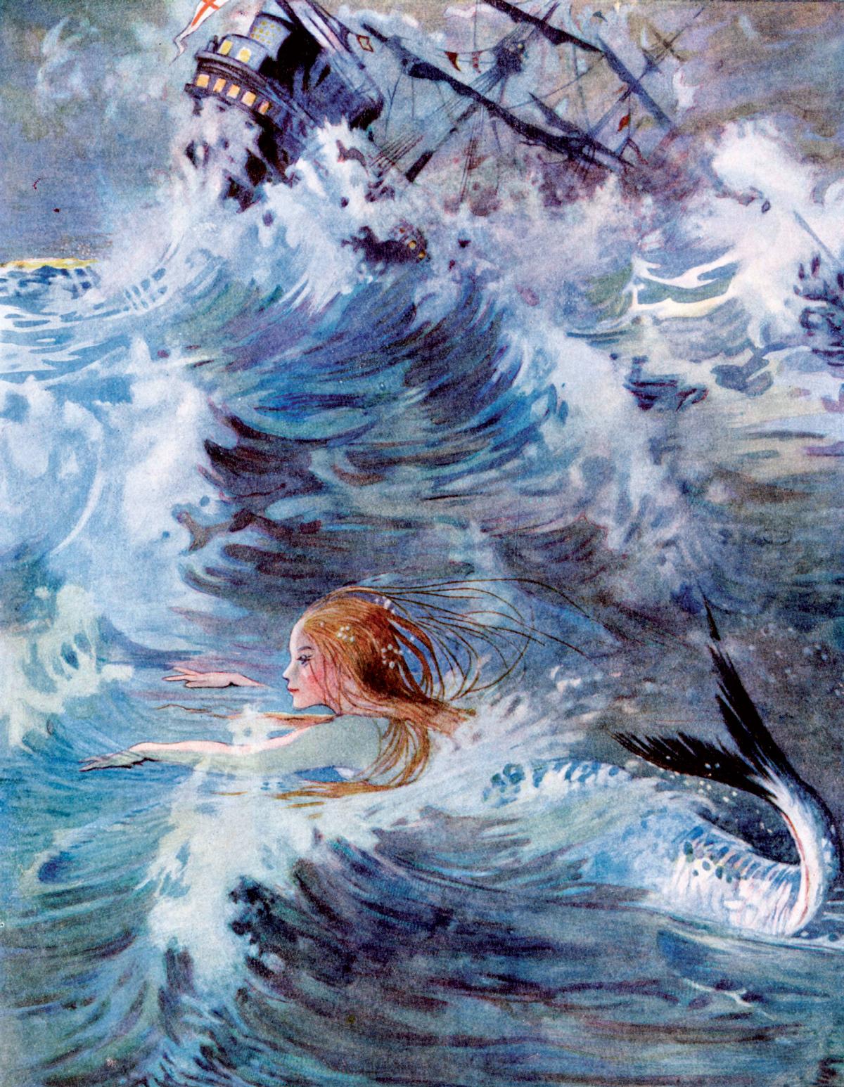 The Little Mermaid illustration by Honor C. Appleton