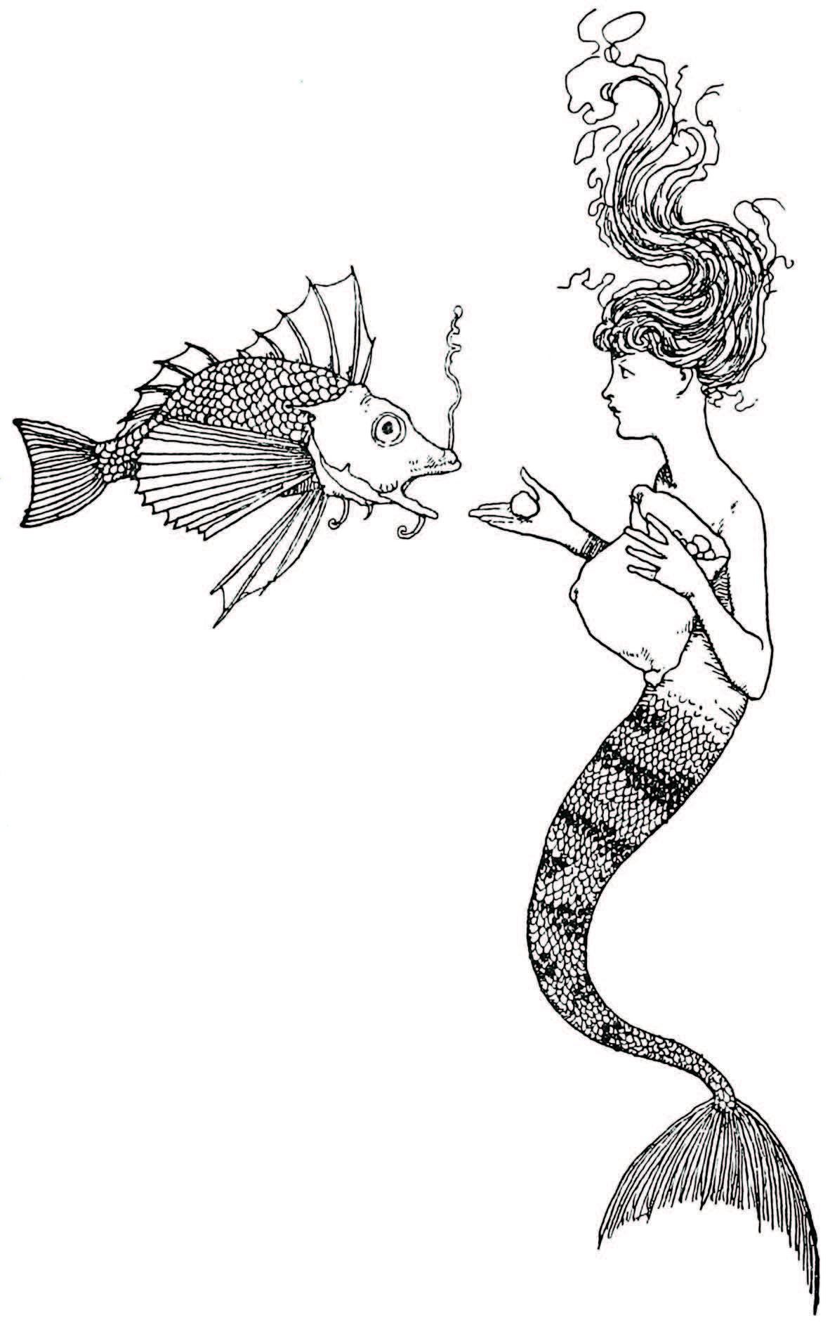 The Little Mermaid illustration by W. Heath Robinson